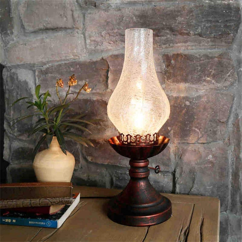 Tellgoy Vintage Studie Schreibtischlampe, Schlafzimmer Nachttischlampe, kreative Retro alte Lampe Lampe,A