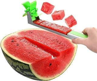 Cortador de molino de sandía cortador de acero inoxidable cuchillo herramienta para ensaladas postres sandía cortador de frutas cocina