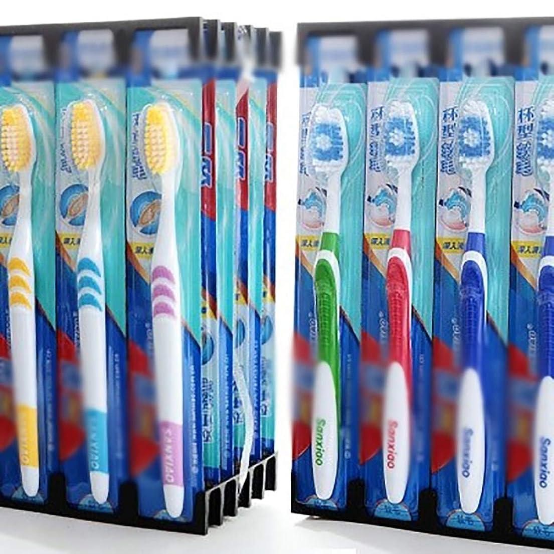 定数良さ統合する歯ブラシ 30本の歯ブラシ、旅行柔らかい歯ブラシ、歯ブラシのバルク極細歯ブラシ - 使用可能なスタイルの3種類 KHL (色 : C, サイズ : 30 packs)