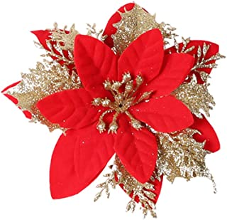 Kiar Christmas Ornament Glittery Openwork Leaf Flower DIY Wreath Rattan Circle Decor Tree Before Nightmare White who DVD for Doctor Stole Outfit Carol Vacation Bag Bad July