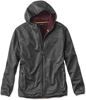 Orvis Men's Windproof Sweater Fleece Hoodie/Only Windproof Fleece Hoodie, Large Gray