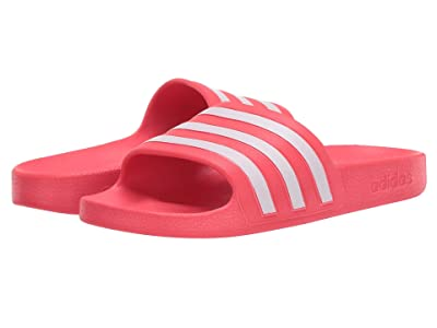 adidas Adilette Aqua (Shock Red/Footwear White/Shock Red) Women