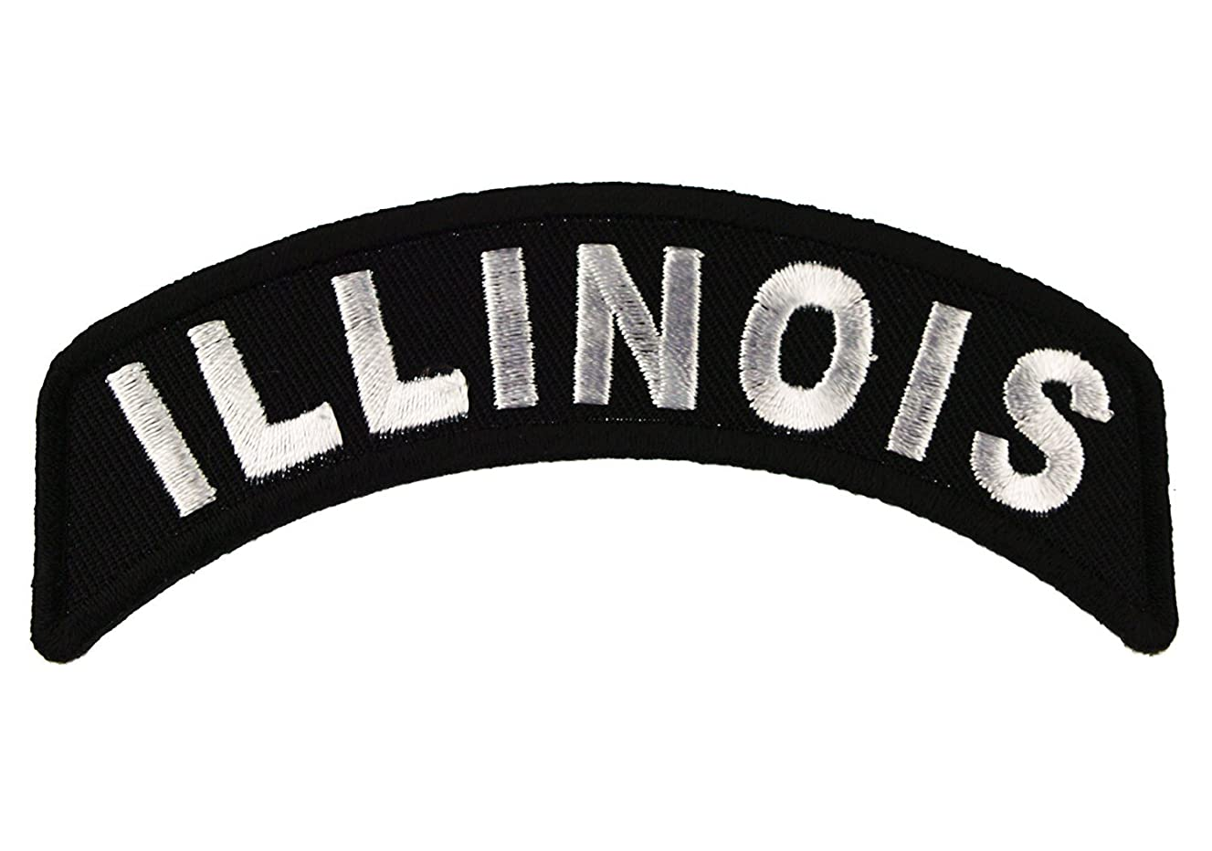 Illinois State Rocker Iron or Sew on Embroidered Shoulder Patch D37
