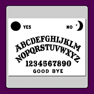 9 X 12 Ouija/Spirit Board Stencil Template Craft/Airbrush Supernatural/Ghost/Halloween