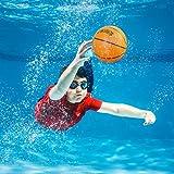 Botabee 6.5' Mini Underwater Basketball Pool Ball   Mini Pool Basketball Water Ball for Under Water Pool Play   Dribble, Pass & Play Water Basketball Underwater or Create Other Swimming Pool Games