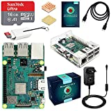 ABOX Raspberry Pi 3 B+ Starter Kit 16 Go Micro SD Carte Classe 10, 5V 3A Alimentation Interrupteur...
