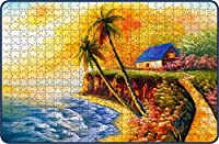 Webby Seacoast Painting Wooden Jigsaw Puzzle, 500 Pieces