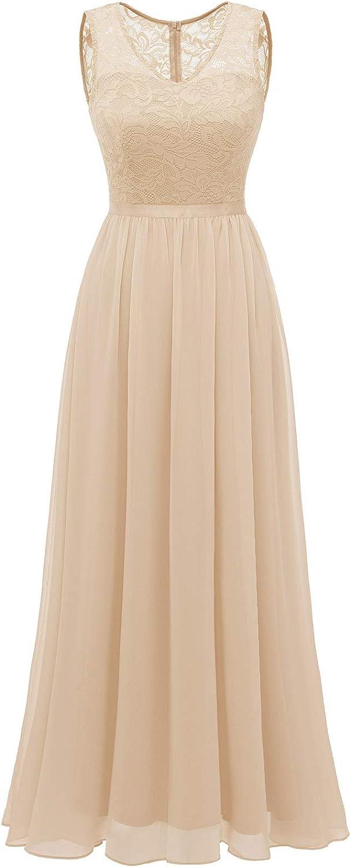 Women Lace Dress, Long Bridesmaid Formal Dress, Maxi Wedding Party Dress