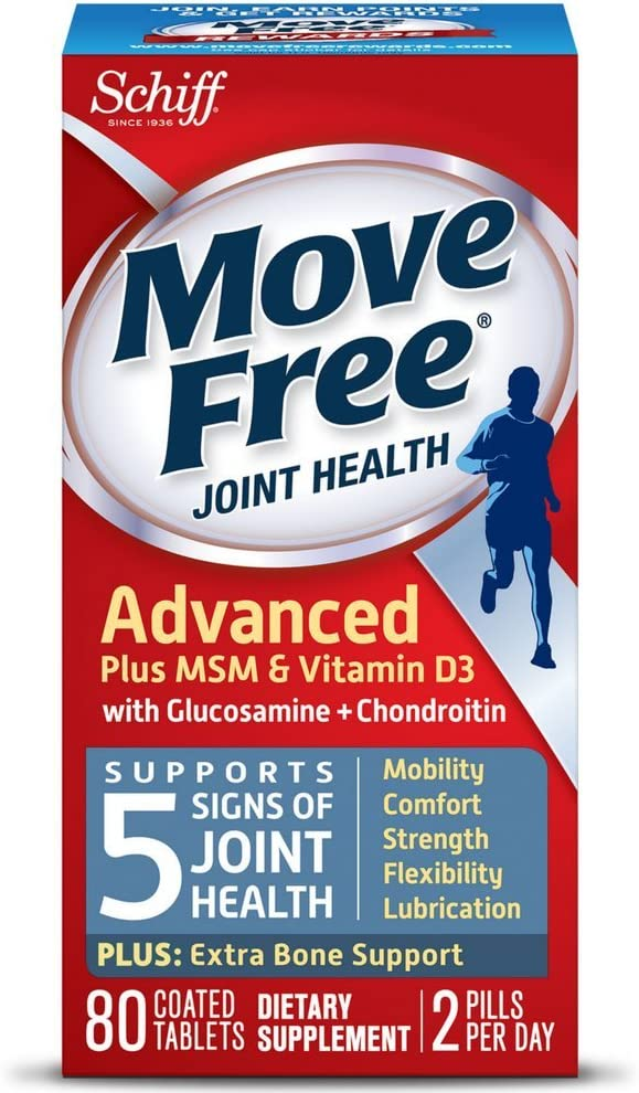 Move Free Advanced Plus MSM and Vitamin Sale SALE% OFF Latest item - tablets D3 Joint H 80