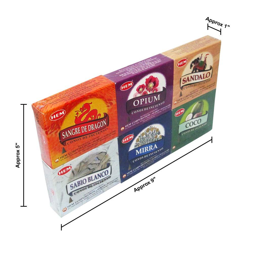 6 cajas de surtidos de dobladillo conos de incienso, más vendidos ...