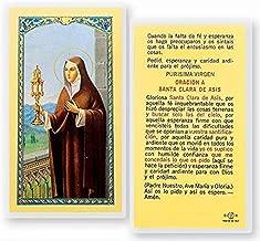 Hail Mary Gifts 25pc, ORACION A Santa Clara DE ASIS HOLY Card