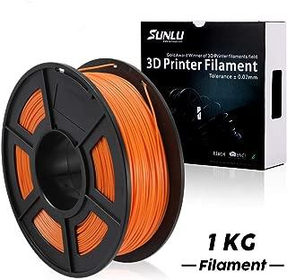SUNLU PLA Plus 3D Printer Filament - 1KG(2.2LBS) Spool 1.75 mm, Dimensional Accuracy +/- 0.02 mm,Orange