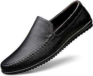 2018春秋新革靴、メンズブリティッシュビジネスカジュアルシューズ、フラットシューズ、ウォーキングドライビングシューズ、メンズファッションシューズ (Color : ブラック, Size : 38)