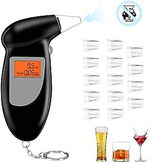 GuDoQi Probador de Alcohol Pantalla LCD Analizador de Alcohol/ímetro con Sensor Semiconductor