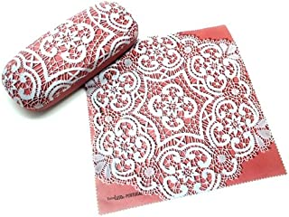 Set off Eyeglass Case with Cleaning Cloth Bobbin Lace Themed Made in Portugal