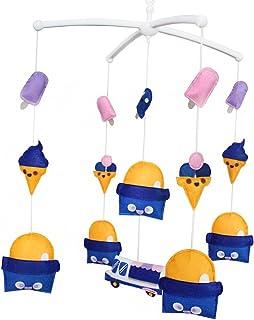 Mobile bébé Mobile Berceau Mobile musical fait main Décoration suspendue colorée Crème glacée