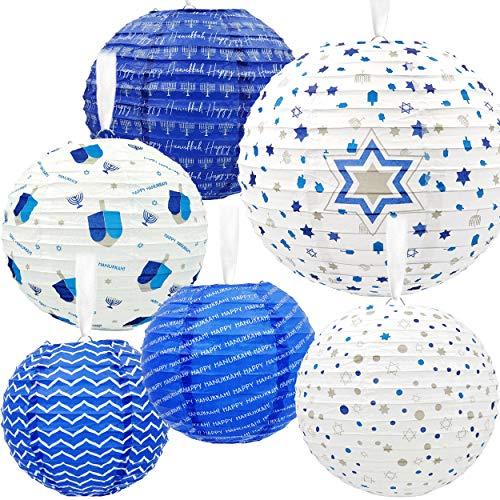 Hanukkah Hanging Ball Lanterns Ornaments 6 Piece - Hanukkah Decorations!