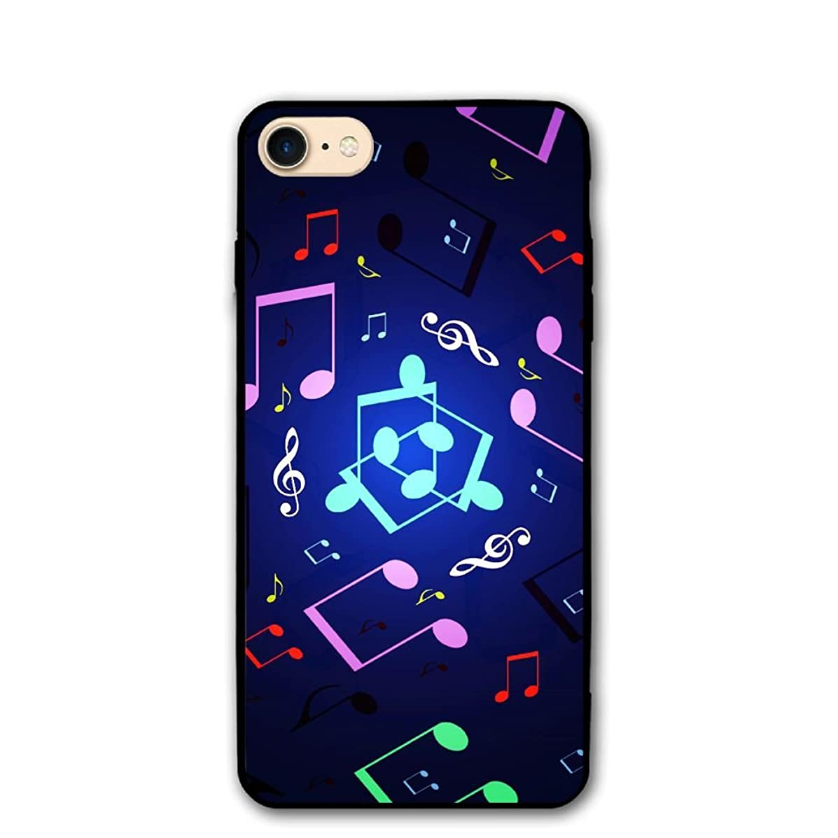 4.7 Inch iPhone 8 Case Musical Notes Pattern Anti-Scratch Shock Proof Hard PC Protective Case Cover