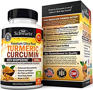 Turmeric Curcumin with BioPerine 1500mg. Highest Potency Available. Premium Joint & Healthy Inflammatory Support with 95% Standardized Curcuminoids. Non-GMO, Gluten Free Capsules with Black Pepper #3
