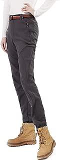 FLYGAGA 防寒パンツ レディース 登山ズボン ソフトシェルパンツ 裏起毛パンツ アウトドアパンツ 長ズボン クライミングパンツ 防風防寒吸汗 防水厚手裏起毛保温 通気静電気防止ピリング防止 秋冬用 レディース F1808