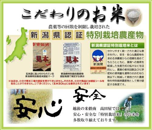 『新米 令和2年産 新潟県ながおか産 コシヒカリ 25kg 特別栽培米 <玄米または精米> (精白米4.5kg×5袋)』の1枚目の画像