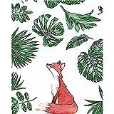 L.L.QYL Malerei Leinwand Fox-Digital-Öl DIY Reines handgemaltes Ölgemälde Gemälde Kern
