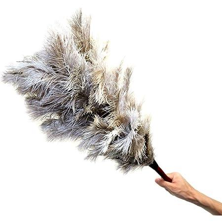 MEOW MARKET 高級 ダチョウ オーストリッチ 車 花粉対策 ほこり取り 羽根はたき 羽はたき はねほうき 天然羽毛 50cm