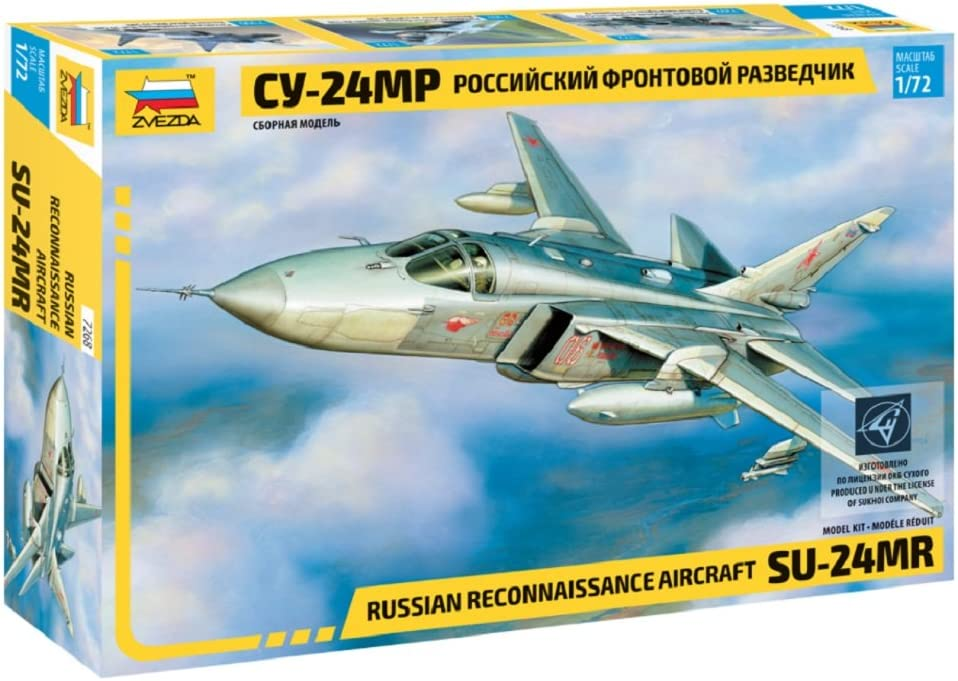 Zvezda 7268 500787268 – 1:72 Combat Ranking TOP10 Jet SUKHOI Save money Stand SU-24MR Mo