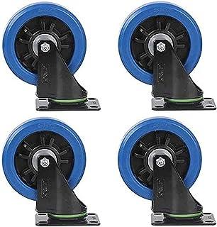 Zwenkwiel Bewegende zwenkwielen Zwenkwielen 4 stuks Medium rubber Hoge elasticiteit Universeel wiel Enkele wielbelasting 1...