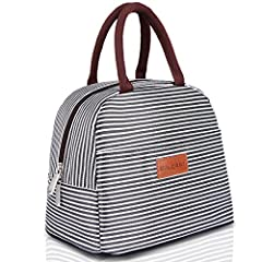 【Upgraded Leakproof BALORAY Lunch Bag】2020 upgraded heat welded insulated inside liner make this lunch tote is totally leakproof.Stylish in design, perfect for taking to work or anywhere you will need a healthy meal or snack.2 short handles allow you...