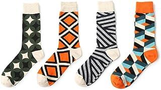 Men's Socks - Colorful Cotton Workout & Training Socks 4 Pairs