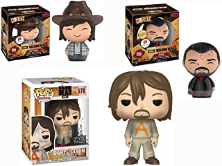 Battle Daryl Pop! TV Exclusive Dixon #578 Bundled with + The Walking Dead AMC Pack Power Shifting Cards Tacdex 2 Items