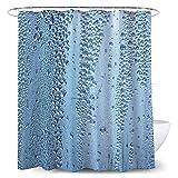 GHKT Cortinas de Ducha Cortina de Ducha del baño de la Cortina del Agua de la Cortina de la división de impresión Digital 3D para bañeras de baño. (Color : Multi-Colored, Size : 150x180cm)