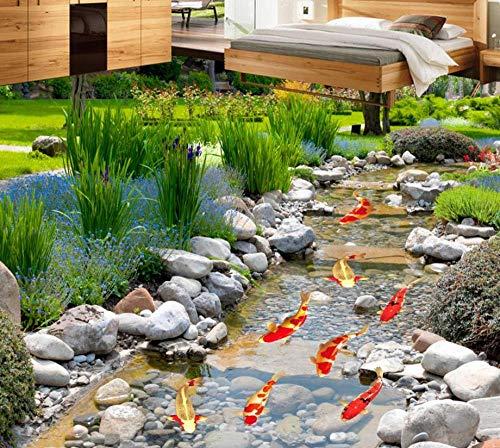 Verse groene 3D Vloer Plant Gras Aangepaste Lijm Vloertegel Zelfklevende Waterdichte 3D PVC Vloer 400 cm.