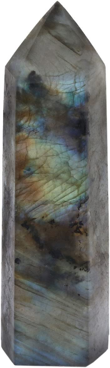 Rockcloud Labradorite Healing Fees free!! Crystal Point C Prism Sale Special Price Faceted Wand