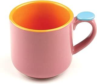 Omniware 1100424 Hemisphere Mug with Thumb Rest, Pink/Orange