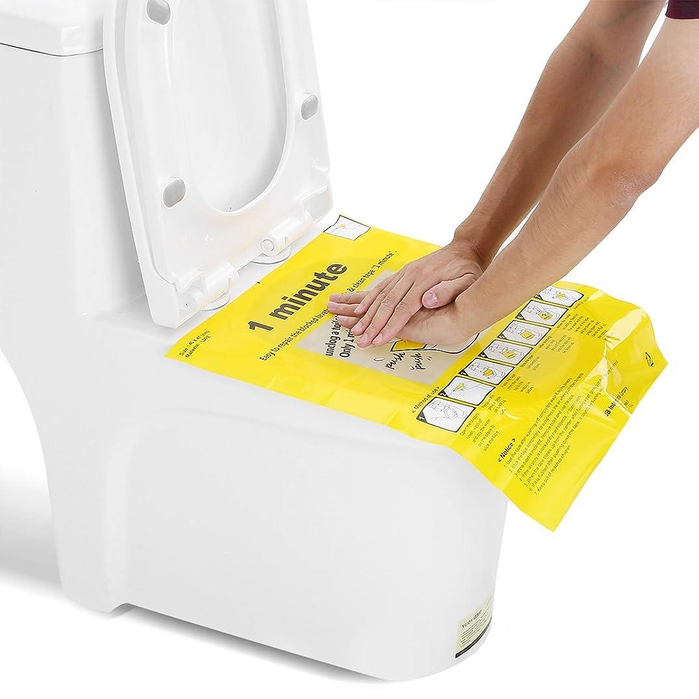 ライセンスお金ペストリートイレプランジャーステッカー、安全できれいなフィルムプランジャーDrトイレツールを簡単に修正するトイレ使い捨てステッカーを詰まらせるトイレツールを詰まらせる