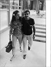 Vintage photo of Marina Vlady walking with her husband Jean-Claude Brouillet.