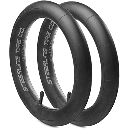 """Pair of 10/"""" x 1.75/"""" Replacement Bicycle Scooter Pram Schrader Inner Tubes"""