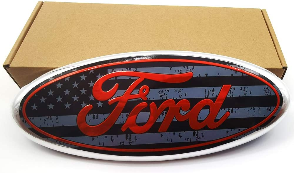 2004-2014 F150 Black Ford Emblem Oval 9 X 3.5 Front Grille Tailgate Replacement Badge Also Fits F250//F350 05-10 Front Grille/&11-15 Tailgate,06-11 Ranger