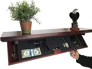 Metal Art of Wisconsin Medium Freedom Shelf with Invisible RFID Lock and Key Cards (Mahogany)