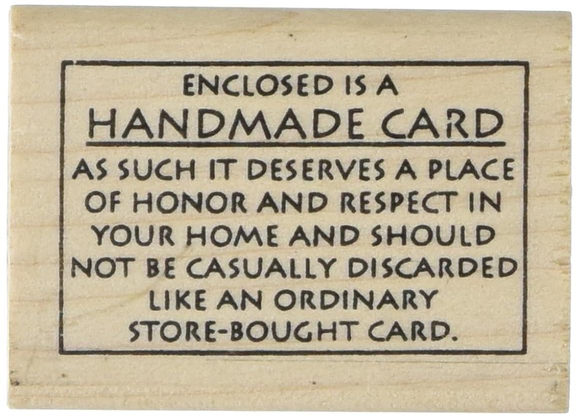 Judikins Wood Mounted Rubber Stamp: Handmade Card