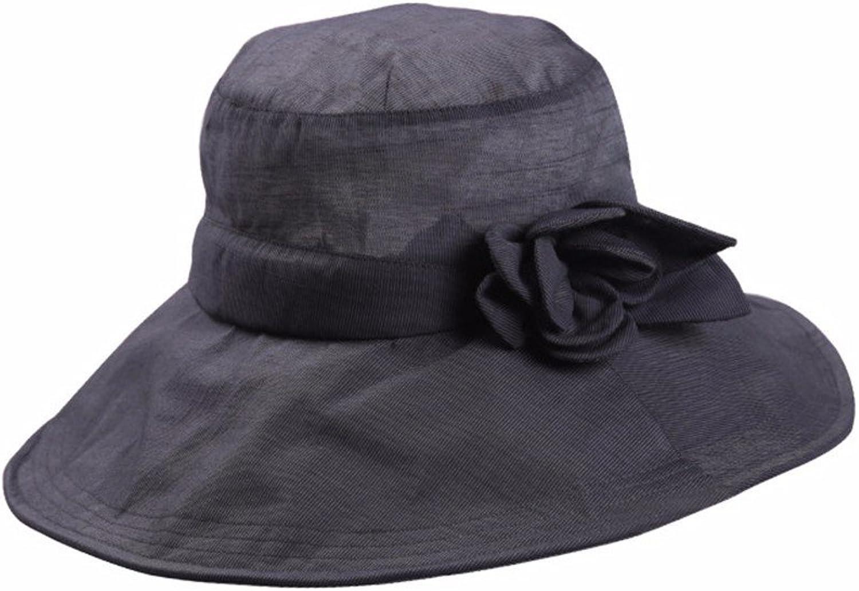 YMFIE Lady Folding Beach hat Wide Flat Flat hat Summer UV Sun Predection Tour and Leisure Sun hat