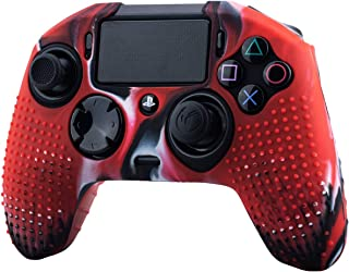 YoRHa Studded Dots Silicone Rubber Gel Customizing Cover for NACON Revolution PRO PS4 controller [Origin & V2] x 1(Camouflage Red)