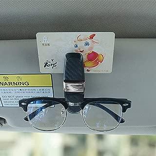 Carbon Fiber Car Glasses Clips Sunglasses Clips Car Card Holders