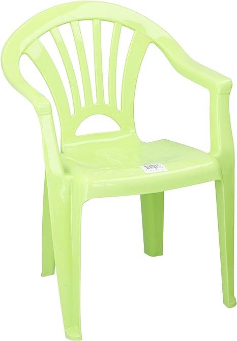 Silla de plástico para niños silla Ideal para Habitación de los Niños, Jardín, Terraza verde Grün/Limette: Amazon.es: Bebé