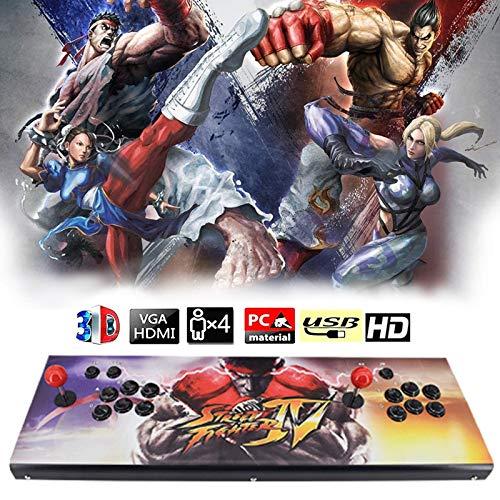 CNMJI Real Pandora's Box Arcade Spielkonsole Unterstützung 3D-Spiele Mit Full HD Spiele Klassifizierung Verbesserte CPU Unterstützung PS3 PC TV Spiele Enthalten (6 Tasten) HDMI Und VGA Ausgang