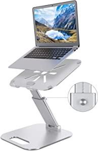 Laptop Stand, NEARPOW Laptop Stands for Desk, Sit to Stand Laptop Holder Riser, Multi-Angle and Height Adjustable up to 20.5
