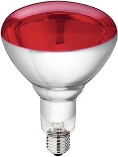 5pieza vidrio templado infrarrojos Pera, Philips 250W Rojo Bombilla E 27Bombilla para Rojo Luz Lámpara térmica térmica Foco Lámpara infrarroja reflector de infrarrojos