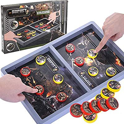 Fast Sling Puck Game Table Desktop Battle Ice Hockey Game Winner Board Games Fast-Paced Tabletop Slingshot Games Child Toys for Adults and Kids